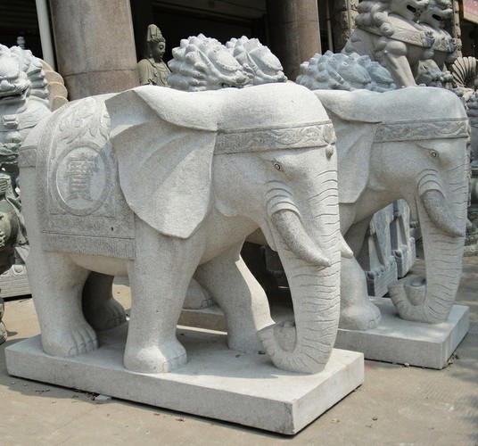 Granite Elephant Sculpture