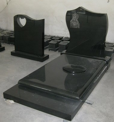 Black Granite Tombstone
