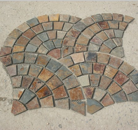 Fan-shaped Slate Tile