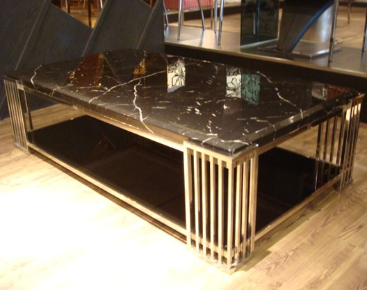 Black and White Marble Table Top