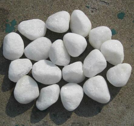 3-5cm Snow White Pebbles