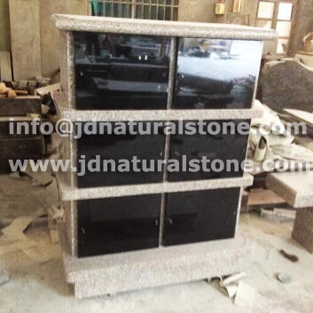 Grey & Black Granite Columbarium