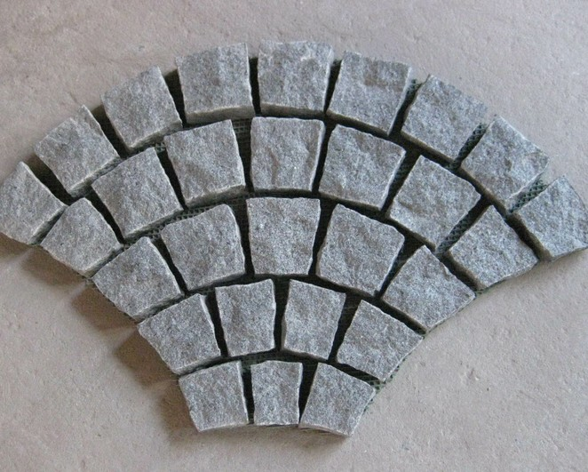 Fanshaped Granite Mesh Paver